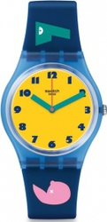 Swatch Soleil Blue Rubber Strap GN242