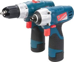 Silverline Silverstorm 10.8V Drill Driver & Impact Driver Twin Pack
