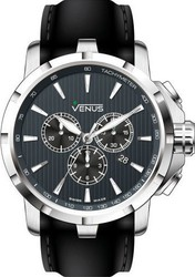 Venus Chrono Iii Quartz Black Leather Strap VE-1311A1-37-R2S2
