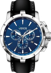 Venus Chrono Iii Quartz Black Leather Strap VE-1311A1-38-R2S1