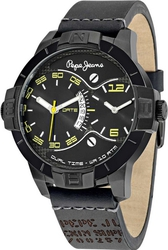 Pepe Jeans Sport Dual Time Black Leather Strap R2351107002
