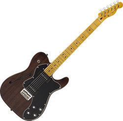 Fender Modern Player Telecaster Thinline Deluxe Black Transparent