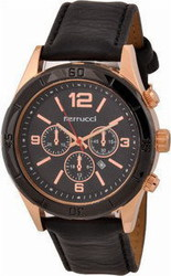 Ferrucci Leather Band Watch With Date FC7064K.04