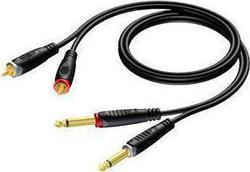 Procab Audio Cable 2x 6.3mm male - 2x RCA male 3m (REF631/3)