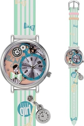 Elle Girl Stainless Steel Multicolor Leather Strap GW40058S03X