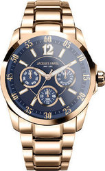 Jacques Farel Multifunction Ladies Rose Gold Stainless Steel AOL4023