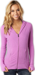 FOX GIRLS ANONYMOUS ZIP HOODY NEON LILAC