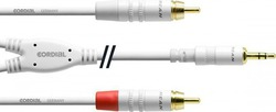 Cordial Audio Cable 3.5mm male - 2x RCA male 1.5m (CFY 1.5 WCC-SNOW)