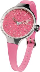 Hoops Cherie Ladies Diamond Pink Rubber Strap 2483LD15