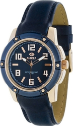 Marea Ladies Rose Gold Blue Leather Strap B54047/2