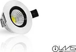 Led Cob Downlights LMS 5 W Epistar Chip Θερμό Λευκό 05868