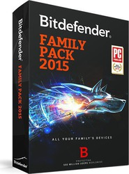 BitDefender Family Pack 2015 (3 Licences , 1 Year) Unlimited Devices