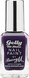 Barry M Gelly Hi Shine Nail Paint No 1 Plum