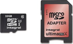 Integral UltimaPro X microSDHC 32GB U3 with Adapter