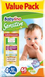 Babylino Sensitive No 4+ (9-20Kg) 46τεμ 1fa2afa41a3