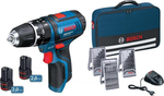 Bosch GSB 10,8-2-LI 2x2,0Ah + Accessories Professional (0615990GB1)