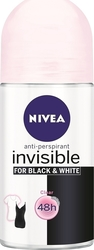 Nivea Black & White Clear Invisible Roll-On 48h 50ml