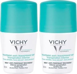 Vichy Anti-Transpirant Roll-On 48h 50mlx2