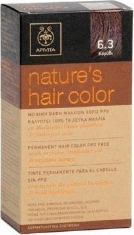 Προσθήκη στα αγαπημένα menu Apivita Nature s Hair Color 6.3 Καρύδι 73d9934f8f1