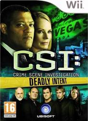 Csi Crime Scene Investigation Deadly Intent Wii