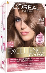 L'Oreal Excellence Cream No 6.1 Ξανθό Σκούρο Σαντρέ