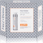 Frezyderm Active block SPF25 50ml & Night Force A+E Cream 10ml & Eye Balm 5ml