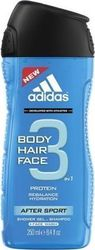 Adidas After Sport 3 In 1 Shower Gel 250ml