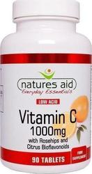 Natures Aid Vitamine C 1000mg Low Acid 90 ταμπλέτες