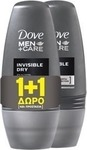 Dove Men Care Invisible Dry Roll-On 50ml x2