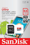 Sandisk Ultra microSDXC 64GB Class 10 with Adapter Mobile