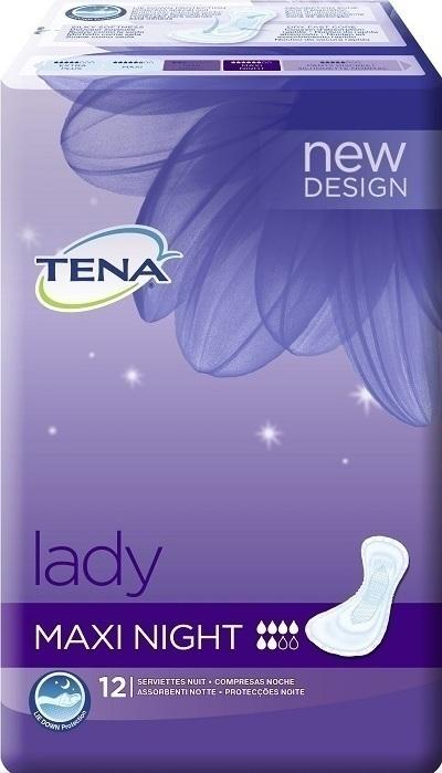 tena lady night maxi night 12. Black Bedroom Furniture Sets. Home Design Ideas