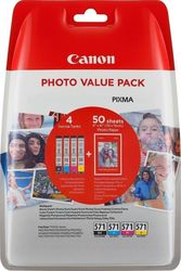 Canon CLI-571 BK/C/M/Y Photo Value Pack (0386C006)