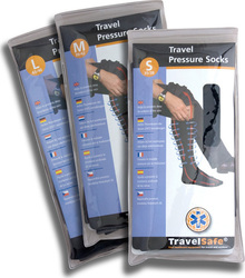 Travelsafe Pressure Socks Μαύρες TS0370