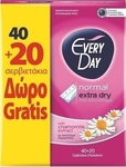 Every Day Extra Dry Normal 40+20τμχ