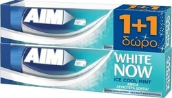AIM White Now Ice Mint 2 x75ml