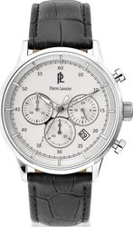 Pierre Lannier Chronograph Black leather 224G123