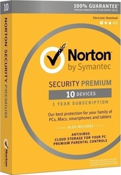 Symantec Norton Security Premium 3.0 (10 Licences , 1 Year) Key