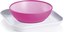 Mam Baby's Bowl & Plate Pink, 6m+