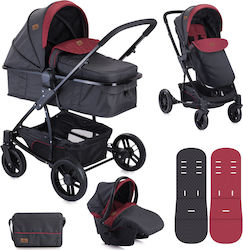 Lorelli Bertoni S500 Combi Set 3 in 1 10020851733 Black & Red