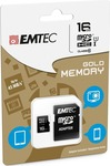 Emtec Gold microSDHC 16GB U1 with Adapter