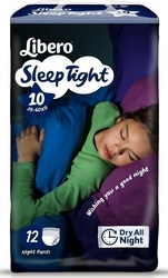 Libero Sleeptight No 10 (35-60kg) 12τμχ