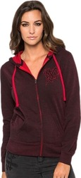 METAL MULISHA OVERSPRAY ZIP FLEECE DARK RED