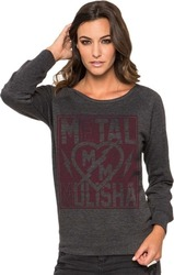 METAL MULISHA ROCK IT CREW FLEECE CHARCOAL HEATHER