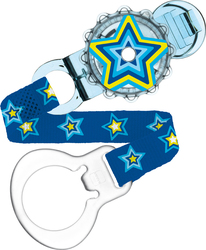Mam Twist Clip & Cover - Blue Star