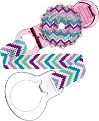 Mam Twist Clip & Cover - Pink Zig-Zag