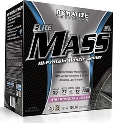 Dymatize Elite Mass Gainer 10lbs 4540gr Φράουλα
