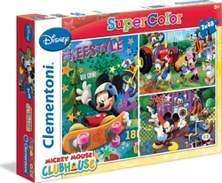 Disney: Mickey Mouse Club House 3x48pcs Clementoni