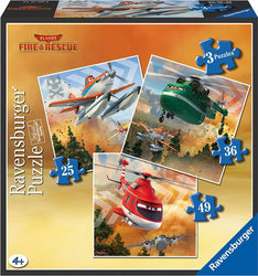 Disney Planes: Fire & Rescue Team 3 in 1 25, 36 & 49pcs (07288) Ravensburger