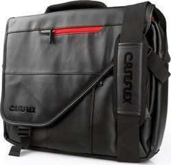 Caseflex Leather-Effect Laptop Travel Bag 15.6""