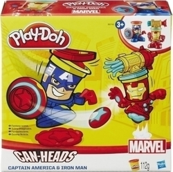 Hasbro Play-Doh Marvel Can Heads: Captain America and Iron Man